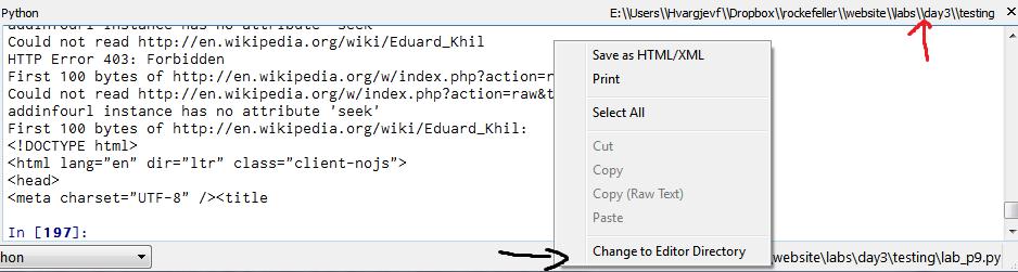 change directory python